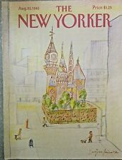 COVER ONLY ~ New Yorker magazine ~ August 10, 1981 ~ MIHAESCO ~ Square One
