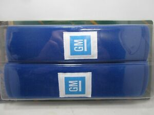 GM Seatbelt Seat Belt Shoulder Pad Cover Pair Blue