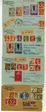 Belgium Stamps 1933 Cover Lot consisting of 4 Rare Registered FDC