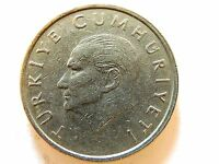 1997 Turkey Ten (10) Bin Lira Coin