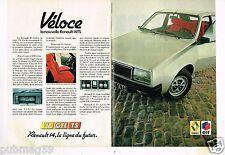 Publicité advertising 1978 (2 pages) Renault 14 TS