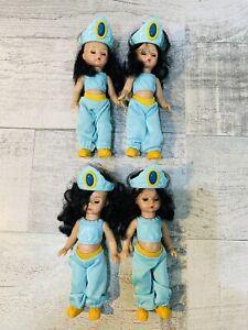 "Madame Alexander JASMINE ALADDIN 5"" McDonalds Princess Lot Of 4 Dolls"