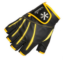 GUANTI GLOVES PRO ANGLER 5 CUT SIZE L YELLOW NORFIN FISHING PESCA SPINNING