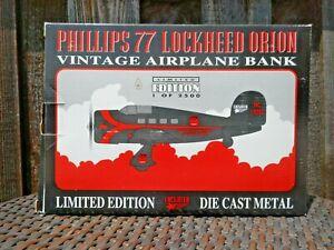 PHILLIPS 77 Lockheed Orion Airplane Limited Edition Die Cast NIB! #42507  NICE!!
