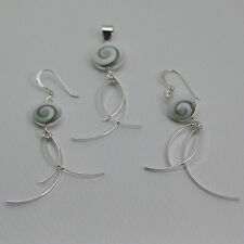 Earrings and Pendant nice Shiva Eye sterling silver