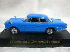 NISSAN PRINCE SKYLINE SPORT COUPE Blue Kyosho 1:64 Scale Diecast Model Car