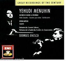 Mendelssohn, Dvorak: Violin Concerto; Wieniawki: Legends / Menuhin, Enescu - CD