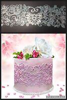 3 x EDIBLE SUGER LACES Wedding Anniversary Babyshower Birthday CAKE CUPCAKE TEA