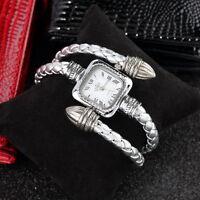 Stylish Gift Lady Women Girl Snake Style Bangle Bracelet Quartz Wrist Watch UL