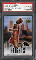 2003 Upper Deck LeBron James Redemption Special PSA 10 Gem Mint