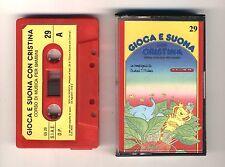 GIOCA E SUONA CON CRISTINA D'AVENA Musicassetta 29 OTTIMO Mc Audiocassetta 1989