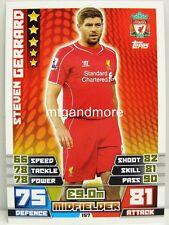 Match Attax 2014/15 Premier League - #157 Steven Gerrard - Liverpool
