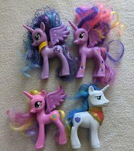 My LIttle Pony G4 brushable lot Princess Luna & Twilight, Cadence Shining Armor