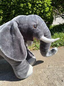 "Melissa and Doug Jumbo 36"" Plush Elephant Large Stuffed Animal"