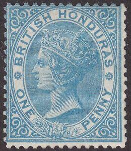 British Honduras 1865 QV 1d Blue Mint SG2 cat £100