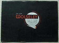 WOLSELEY TWELVE Car Sales Brochure Nov 1946