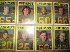 1972  O-Pee-Chee CFL Edmonton Eskimos Team Set COMPLETE