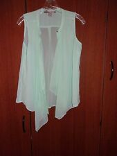 Forever 21 Sheer Green Sleeveless Blouse Contemporary Sz S Bust 38 in L 25 in