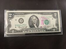 1976 $2 Two Dollar Bill, First Day of Issue Cancelled Stamp CLEVELAND,OH