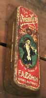 VIOLIN KING ARTISTS BAND BOHM HARMONICA GERMANY ANTIQUE ADVERTISING LITHO TIN