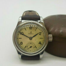 USED VINTAGE 1939 OMEGA SUB SECOND SILVER DIAL MANUAL WIND MAN'S WATCH