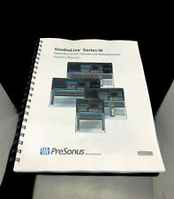 PreSonus Studio Live Series lll 3 - Owners Manual - 159 Color Pages - Free Ship