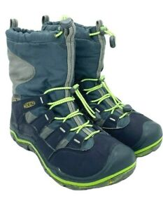 Keen Men's Shellback 200 Gram Insulated Boots Black/Green/Gray Size 6.0 US