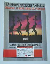 Publicité advert tournée album concert THE STRANGLERS 1986 PARIS Lp dreamtime