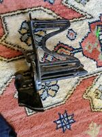 """Antique E.C. STEARNS CAST IRON MITER BOX FOR SAW VTG 1900S 7"""" OLD RARE TOOL"""