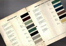 1949 NASH Color Chip Paint Sample Brochure / Chart: DuPont