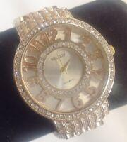 "montre bijou femme stainless steel quartz marque ""MELODY"" cristaux 4773"