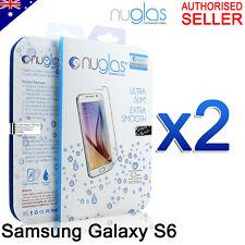 2x GENUINE NUGLAS Premium Tempered Glass Screen Protector For Samsung Galaxy S6