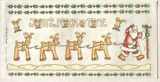THE NICK OF TIME SANTA CHRISTMAS BO-BUNNY PRESS 6X12 IN. SHEET STICKERS REINDEER