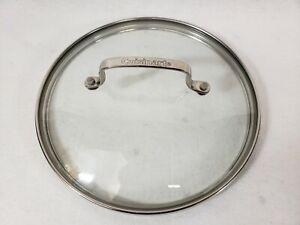 "Cuisinart Pan Glass Replacement Lid 9.375"" Inner Diameter / 10.125"" Outer Dia."