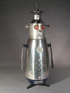 Found object robot sculpture retro assemblage