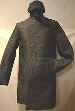 Burberry ~Prorsum Men's Black Unique Waxed Raincoat/Mac/Trenchcoat (S) UK 36/38
