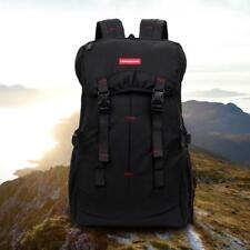 50L Outdoor Wandern Tasche Camping Reise Wasserfest Bergsteigen Rucksack Schwarz