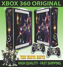 XBOX 360 OLD SHAPE TONY STARK IRON MAN SUIT STICKER SKIN & 2 PAD SKINS