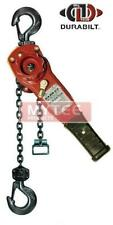 "Durabilt Lever Hoists 1.5 Ton Rated Capacity 25ft Standard Lift 11.9"" Lever"