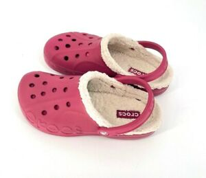 Crocs Dual Comfort BAYA Women size 10 Fur Lined Slip On Mule Clogs pink men 8