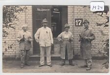 2845, Privat Fotokarte Neuhammer/ Queis Handwerker vor einem Haus, 1926 !