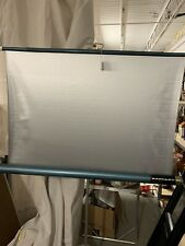 """Vintage Radiant Projector Screen 40"""" x40"""" Movie Night Home Decor Man Cave Prop"""