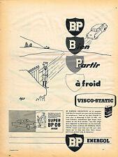 PUBLICITE ADVERTISING 114  1955  BP   ENERGOL  visco-static par JACQUES FAIZANT