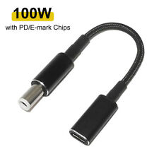 100W Usb-C Type C Female to 7.4x5.0mm Pd Charger Power Cable for Dell Laptops