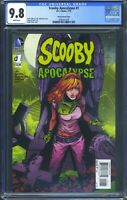 Scooby Apocalypse 1 (DC) CGC 9.8 White Pages Daphne Variant