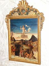 ANTIQUE 19th C AFTER GIOVANNI BELLINI RESURRECTION OF CHRIST OIL PAINTING SIGNED
