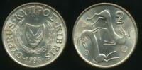 Cyprus, Republic, 1996, 2 Cents - Uncirculated