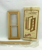 Vtg Lot Of 2 Houseworks Double Hung Window 5000 Dollhouse Miniature Wood 80s