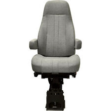 NATIONAL SEATING 50764361 - Captain Air Ride Seat for Big Trucks - Grey Cloth, H