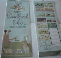 2018 Family Organiser Calendar, 5 Columns for Organising your family. Woodland